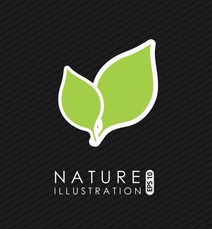 enviromental: Ecology  design over black background, vector illustration