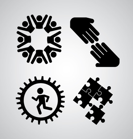 succes: Icon design over gray background, vector illustration Illustration