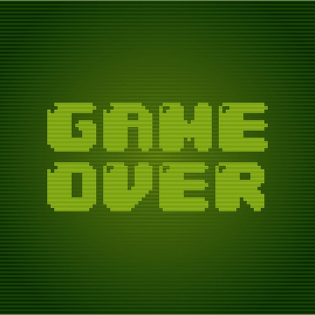 Video game design over green background, vector illustration Vector