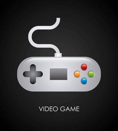 Video game design over black background, vector illustration