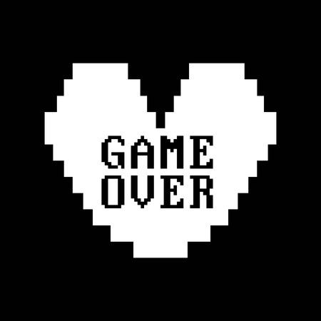 videogame: Videogame design over black background, vector illustration Illustration