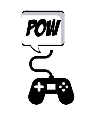 videogame: Videogame design over white background, vector illustration