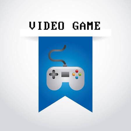 videogame: Videogame design over  gray background, vector illustration