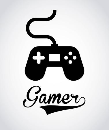 videogame: Videogame design over gray background, vector illustration Illustration