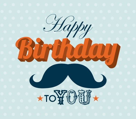Birthday design over blue background, vector illustration Illustration