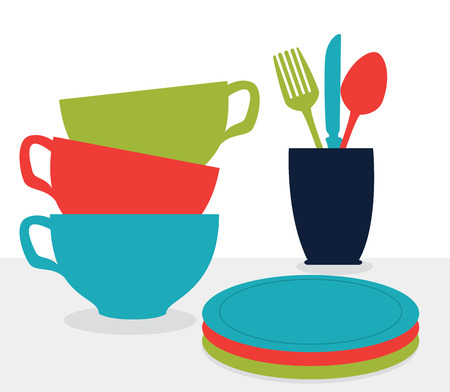 kitchen design over white background, vector illustration