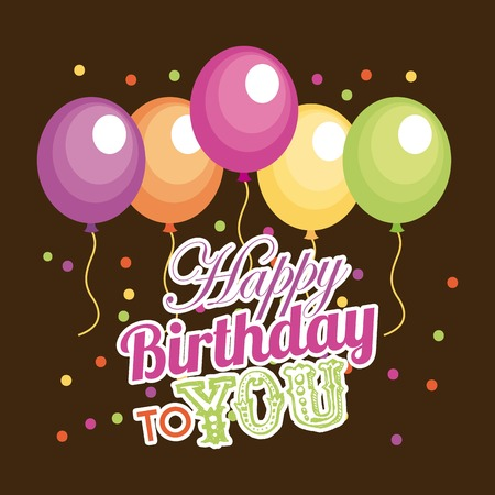 you are welcome: Birthday design over brown background, vector illustration Illustration