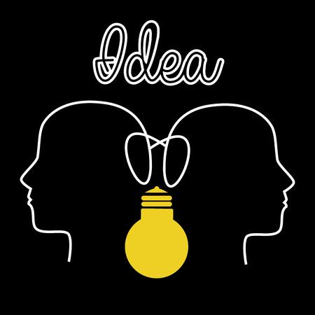 Idea design over black background ,vector illustration