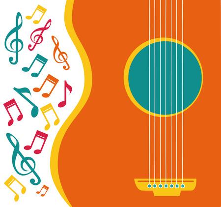 Music design over white background, vector illustration Vector