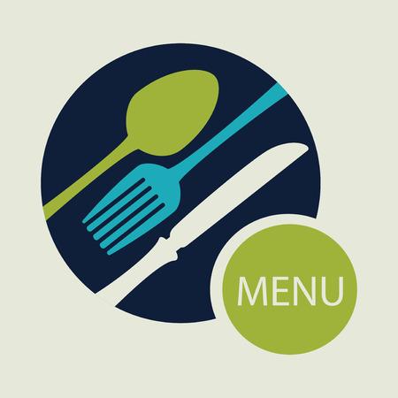 Restaurant design over beige background, vector illustration Vector Illustration