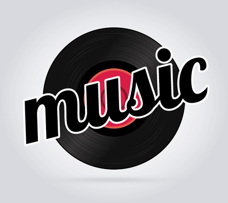 Music design over gray background, vector illustration