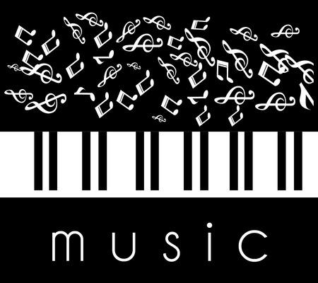 Music design over black background, vector illustration