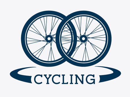 bicycle wheel: Bike design over white background, vector illustration Illustration