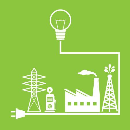 energetics: Energy design over green background ,vector illustration Illustration
