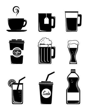 fag: Drink design over white background, vector illustration
