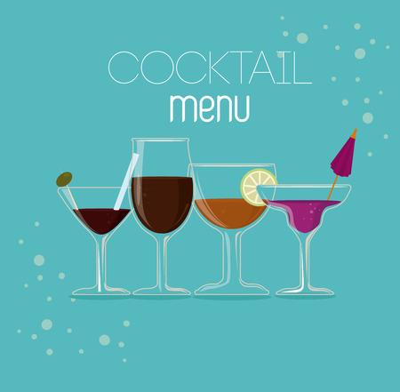 fag: Drink design over blue background, vector illustration
