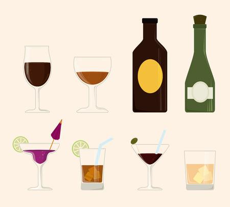 fag: Drink design over beige background, vector illustration