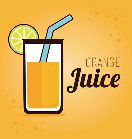 fag: Drink design over orange background, vector illustration