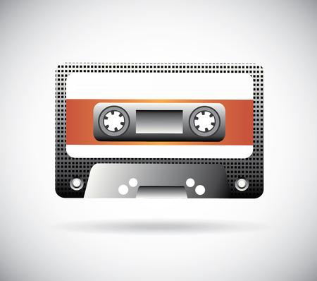 casette: Music desing over white background, vector illustration Illustration