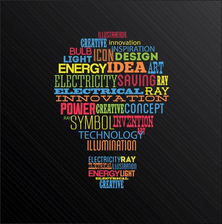 Bulb design over black background, vector llustration,