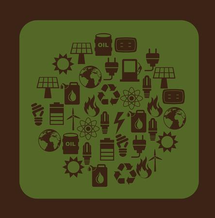 Energy design over brown background, vector llustration, Vector