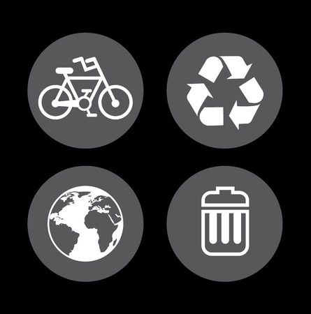 enviromental: Ecology design over black background, vector illustration, Illustration