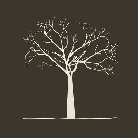dea: Tree design over background, vector illustration