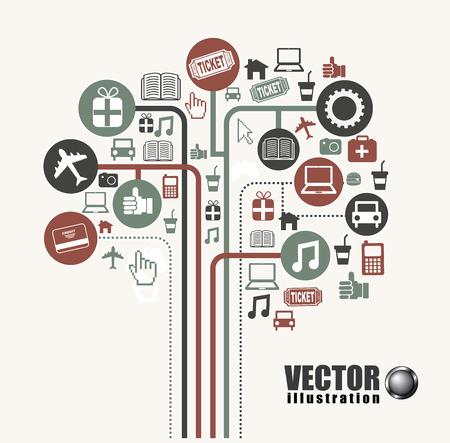 consumerism: Shopping design over white background, vector illustration