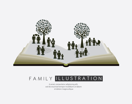 Family design over white background, vector illustration Vector