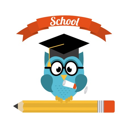 School design over white background, vector illustration Vector