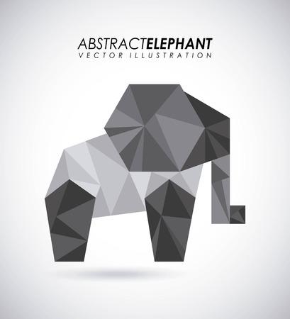 absract art: Animal design over gray background, vector illustration