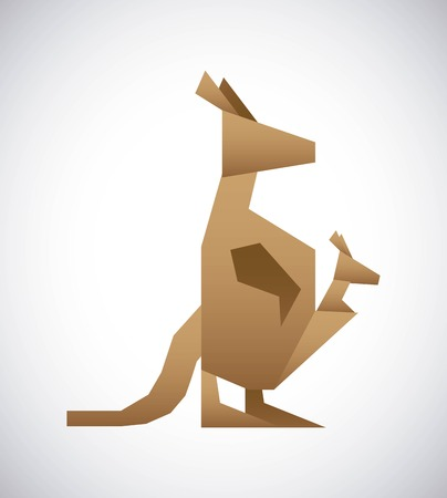 Animal design over gray background, vector illustration Vector
