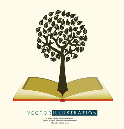 dea: Tree design over beige background, vector illustration