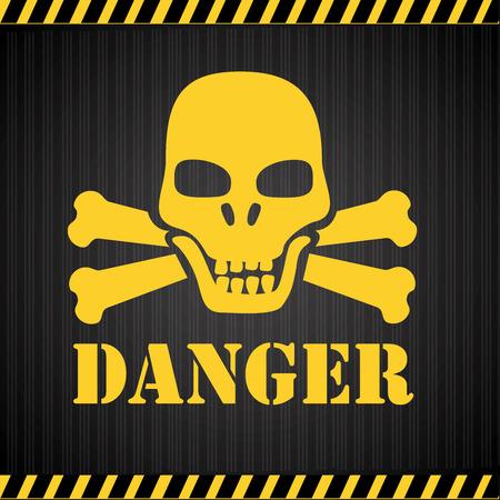 Danger design over black background, vector illustration Illustration
