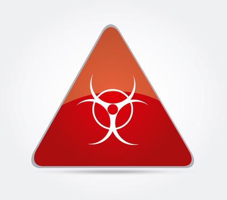 Danger design over gray background, vector illustration Stock Vector - 28548708