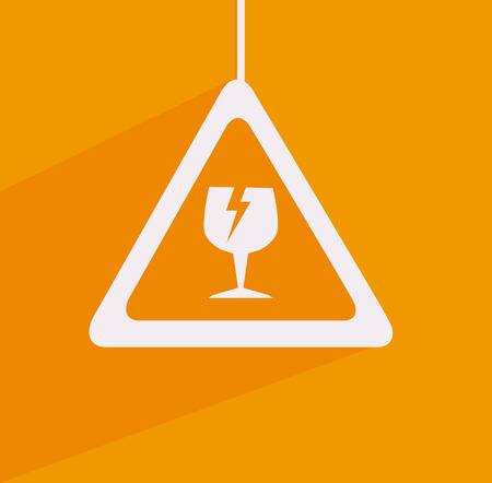 Danger design over orange background, vector illustration Stock Vector - 28548711