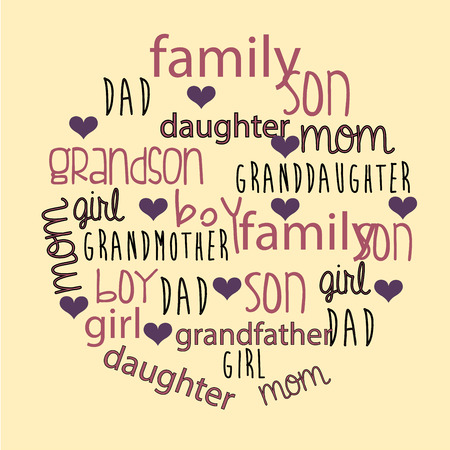 Family design over beige background, vector illustration Vector