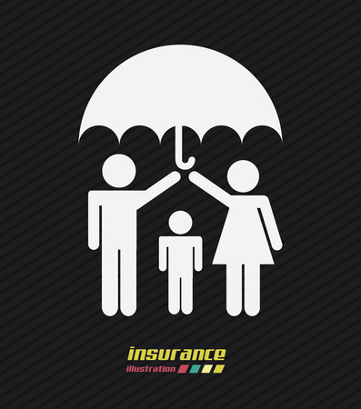 Family design over black background, vector illustration Illustration