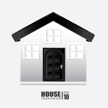 cozy: House design over white background, vector illustration Illustration