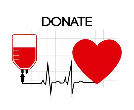blood bag: Medical design over white background, vector illustration Illustration