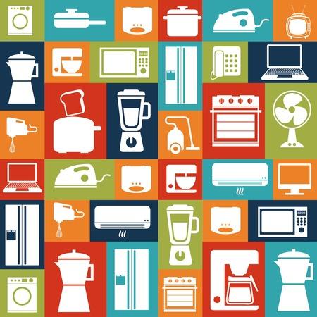Appliances design over  colorful background, vector illustration Vector