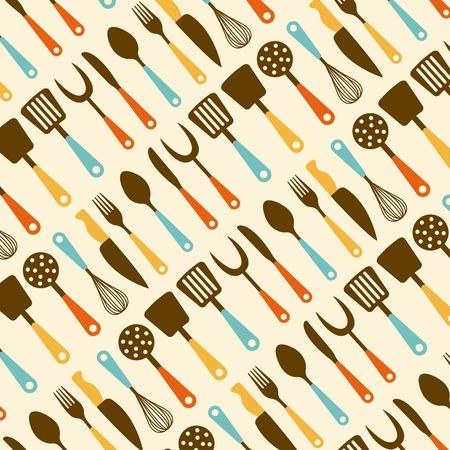 Kitchen design over beige background, vector illustration Vector