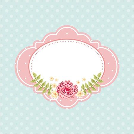 Flowers design over blue background, vector illustration