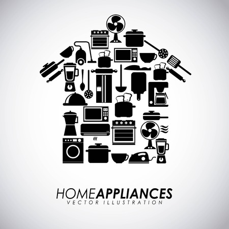 Appliances design over gray background, vector illustration Illustration