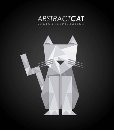 absract art: Animal design over black background, vector illustration