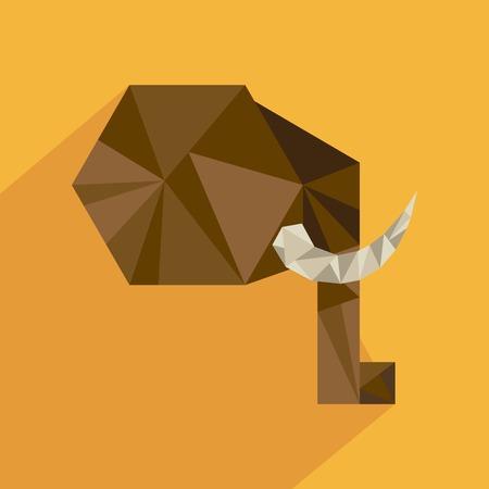 absract art: Animal design over yellow background, vector illustration