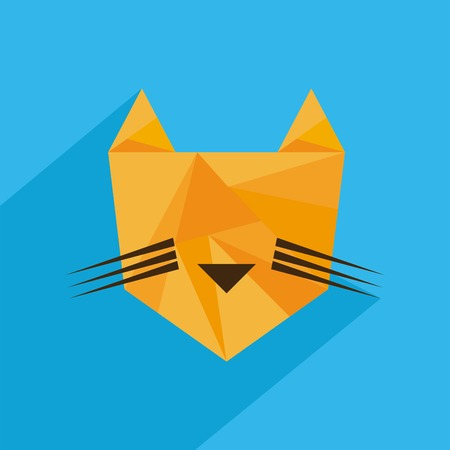 absract art: Animal design over blue background, vector illustration