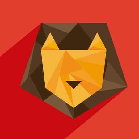 Animal design over red background, vector illustration Vector