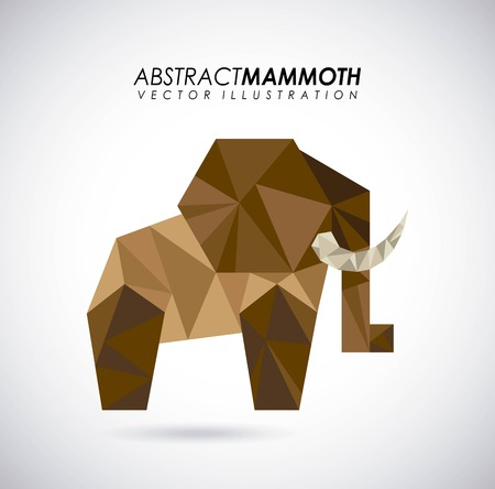absract: Animal design over gray background, vector illustration