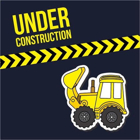 Under construction design over black background, vector illustration Vector